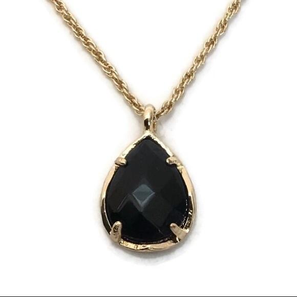 Kendra Scott Jewelry - Kendra Scott Kiri Black Teardrop Pendant Necklace
